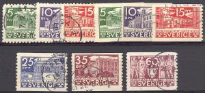 Sweden 1935 Scott 239-47 u fvf c/s scv $14.20 less 50%=$7.10 Buy it Now !!!