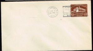US STAMP BOB  #U524 1 1/2C STAMPED ENVELOPE ENTIRE FDC  JAN 1. 1932