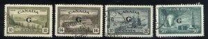 Canada #O21-24   u VF 1950 PD