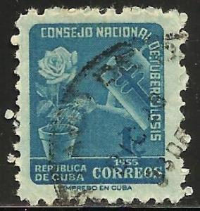 Cuba 1955 Postal Tax Scott# RA28 Used