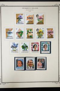 Penrhyn Island 1970s to 1980s Stamp Collection