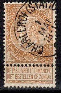 Belgium #70 F-VF Used CV $20.00 (X199)