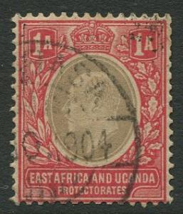 East Africa & Uganda - Scott 2- KEVII Definitive -1903 - Used- Single 1a Stamp