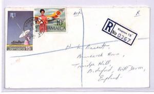 XX218 1972 JAMAICA Kingston Mercury House REGISTERED GB Devon Airmail Cover