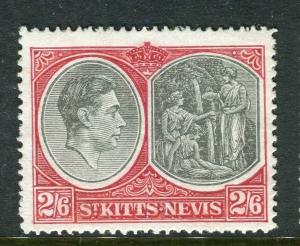 ST. KITTS; 1938 early GVI issue fine Mint hinged Shade of 2s.6d. Perf 14 value