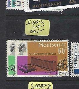 MONTSERRAT   (P3008BB)  QEII WHO  SG 185-6   VFU