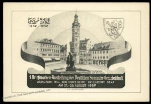 Germany 1937 Stamp Show 700th Anniv Gera GS Stationery Card 90814
