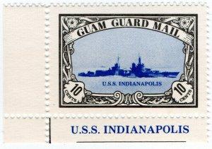 (I.B) Guam Local Post : Guam Guard Mail 10c (USS Indianapolis)