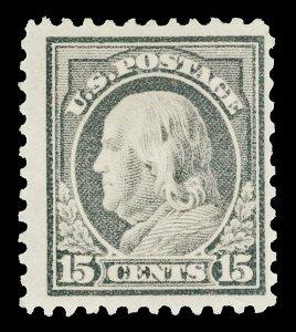 Scott 514 1917 15c Franklin Mint F-VF OG HR Cat $32.50