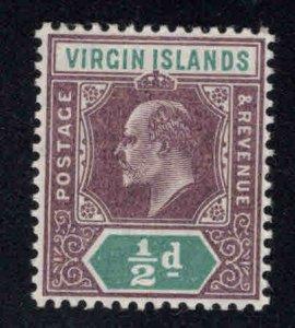 Virgin Islands  Scott 28 MH* KEVII  stamp