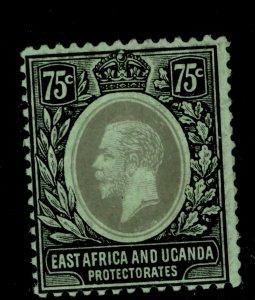 EAST AFRICA and UGANDA GV SG52d, 75c black/green-emerald, M MINT. Cat £12.