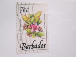 Bardados #763 used dated 1991 SPACEFILLER