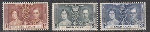 Gold Coast - 1937 Coronation Sc# 112/114 - MH (7002)