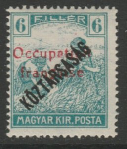 Hungary French Occupation Arad Issue 1919 6f MH* A18P16F626