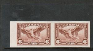 Canada #C5b Extra Fine Mint Lightly Hinged Imperf Pair
