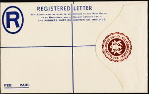 Ghana. Registered Envelope(8d) Unused