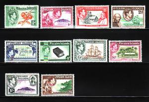 Pitcairn Islands 1-8 Set MH King George VI, Various (A)