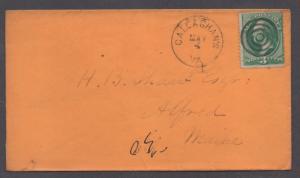 **US 19th Century Cover, Callaghans, VA, 5/4 CDS + Target F/C, DPO3