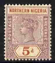 Northern Nigeria 1900 QV 5d dull mauve & chestnut mou...