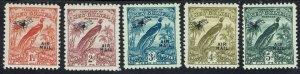 NEW GUINEA 1931 DATED BIRD AIRMAIL 1/2D - 5D