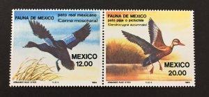 Mexico 1984 #1347-8, Aquatic Birds, MNH.