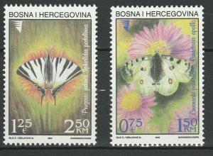 Bosnia and Herzegovina 2002 Butterflies MNH Block