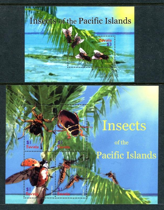 Tuvalu 969-970, MNH, Insects 2005. x28000