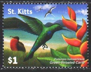 Saint Kitts and Nevis. 2015. 1503. Hummingbird, birds, fauna. MNH.