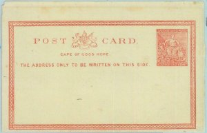 89167 - CAPE OF GOOD HOPE - Postal History - STATIONERY CARD H & G  # 1 - SIZE?!
