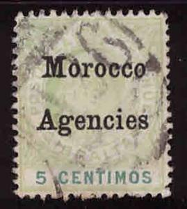 British Offices in Morocco Scott 27 Used tear at left of Agencies
