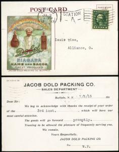 Jacob Dold Packing Co, Ham & Bacon Scarce Advertising Cover - Stuart Katz