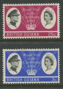 STAMP STATION PERTH British Guiana #299-300 Royal Visit Issue MNH CV$4.00