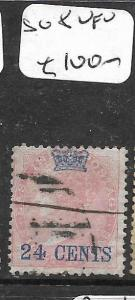 MALAYA STRAITS SETTLEMENTS  (P2704B)  ON INDIA 24C  QV SG 8  VFU
