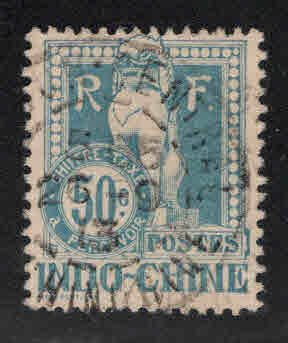 French Indo-China Scott J13 Used 1922 Angkor Wat Postage due