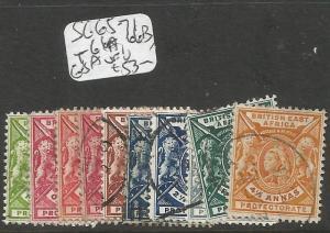 British East Africa SG 65-71, 66a, 66b, 68a VFU (7cqo)
