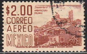 MEXICO C220Hj, $2P 1950 Definitive 2nd Printing wmk 300 USED. F-VF. (1386)