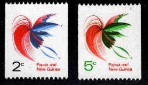 PNG Papua New Guinea Scott 291A-292 MNH** Bird of Paradise coil set