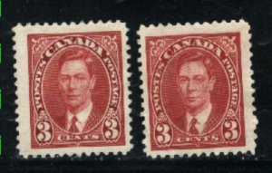 Canada 233 X 2   used  1937 PD