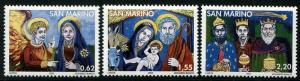 HERRICKSTAMP SAN MARINO Sc.# 1667-69 Christmas 2005 Mint NH