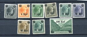 Germany  Luxembourg 1940 Accumulation Overprint  MH/MNH 7185