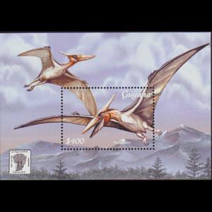 GUYANA 2001 - Scott# 3672 S/S Dinosaurs NH