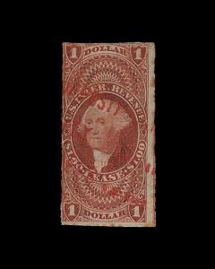 VINTAGE: US 1862 USD MHR   SCOTT # R70A $42.50 LOT#1862VU