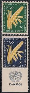 United Nations 23-24 MNH - Freedom from Hunger