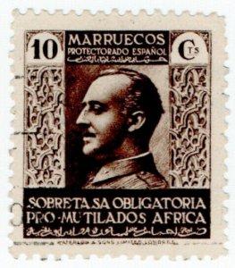 (I.B) Spain Morocco Cinderella : African Cripples Fund 10c