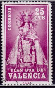 Spain, 1973, Plan sur de Valencia, 25cts, used