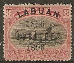 Labuan 71 SG 88 Mint Fine 1896 SCV $57.50