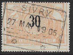 Belgium Q25 used.  Railway Stamp