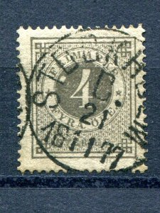 Sweden  #18 var  XF  Used  white dot next to numeral - Lakeshore Philatelics