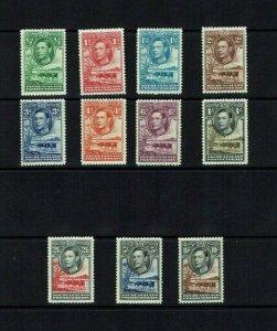 Bechuanaland: !938, King George VI Definitive set, Mint