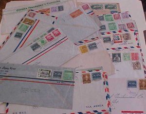 CUBA  34 COVERS 1950's MOSTLY TO USA INCLUDES 2 REGISTERED
